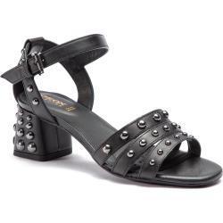 Dámske Sandále Geox čiernej farby vo veľkosti 35 s výškou opätku 5 cm - 7 cm na leto