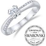 Silvego Zásnubný strieborný prsteň so Swarovski®Crystals FNJ0946RSW