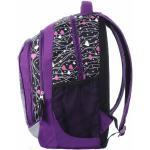 Školský batoh dievčenský neo 8 a black/violet/pink