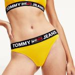 TOMMY HILFIGER Žlté tangá Thong Tommy Jeans – XS