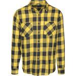 Urban Classics - Kockovaná flanelová košeľa - Flanelová košeľa - čierna žltá