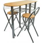 vidaXL Kuchynský/raňajkový barový stôl a stoličky, drevo