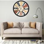 vidaXL Nástenné hodiny viacfarebné 60 cm kovové