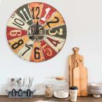 vidaXL Nástenné hodiny viacfarebné 60 cm MDF