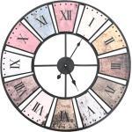 vidaXL Vintage nástenné hodiny s pohonom Quartz 60 cm XXL