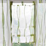 Záclona ražná/zelená 45x90cm
