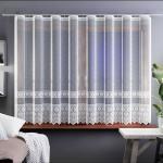 Záclona Samanta biela, 400 x 160 cm