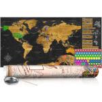 Zoškrabávacia mapa sveta - Golden Map: Poster