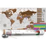 Zoškrabávacia mapa sveta - Grey Map: Poster