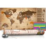 Zoškrabávacia mapa sveta - Vintage Map: Poster
