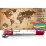Zoškrabávacia mapa v zemitých farbách - Vintage Map