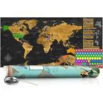 Zoškrabávacia mapa v zlatom prevedení - Golden Map: Poster
